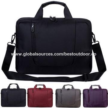de0743fd3cff 15.6-inch Soft Nylon Waterproof Laptop Shoulder Strap Bag with Side Pocket