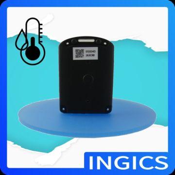 BLE (Bluetooth Smart) wireless sensor beacon tag for temperature