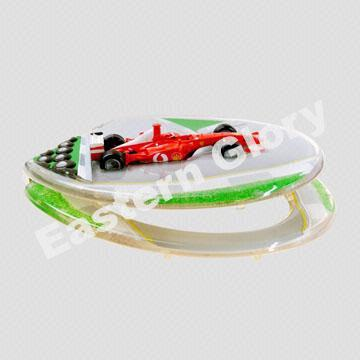 China Clear Resin Toilet Seat With Racing Car F1 Design