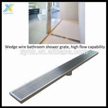China Stainless Steel Bathroom Grates Linear Floor Grate Channel Shower
