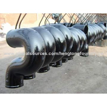 China Sand Casting Ductile Iron U or S Pipe Fitting with Black Painting