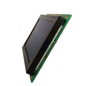China Customized graphic LCD module, TN/STN/FSTN material with blue color and pin connector