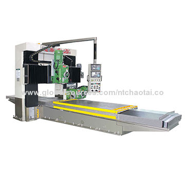 Automatic CNC milling machine with large size worktable and