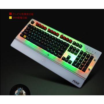 China LED Keyboard 3 Colors Crack Illuminated USB Multimedia PC Gaming Gamer