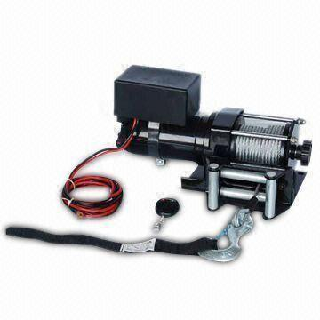 12V 3,000lbs Portable Electric Winch with Black Finsh, Dynamic Brake