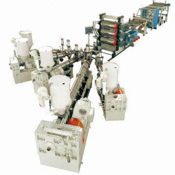 PP, EVA, EVOH, PS and PE Multi-layer Sheet Co-extrusion Line