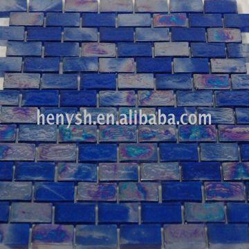 China Brick Shape Wall Tile Gl Blue