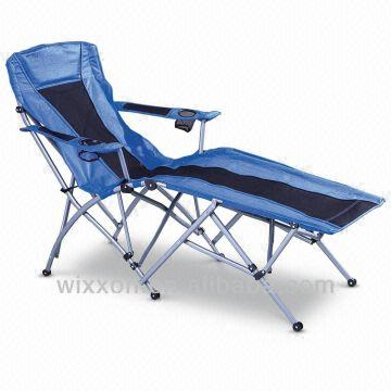 China Folding Camping Lounge Chair Size Strong Stand