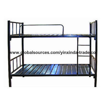 China Metal Single Bunk Bed Steel Bunk Bed Frame For Adult With High