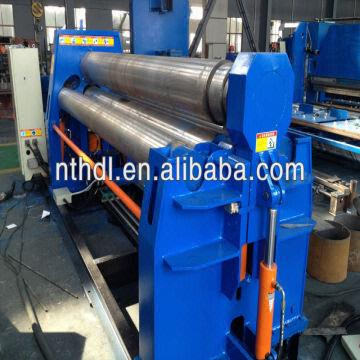 Hydrau China CNC 4 roller steel pipe rolling machine 1.With Pre-bending function 2 & CNC 4 roller steel pipe rolling machine 1.With Pre-bending function ...