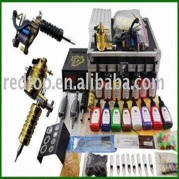 Wholesale top quality professional 2 guns tattoo kit | Global Sources