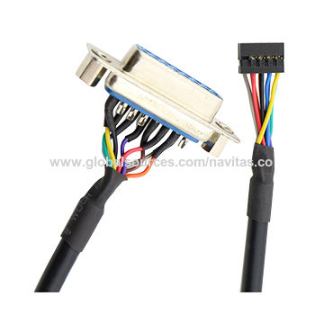 Taiwan 36 pin HPCN Connector 5 pin Molex LVDS Cable Assembly