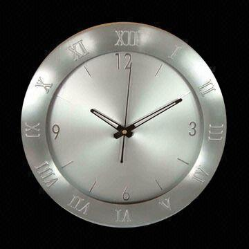 14inch Metal Dial Aluminum Wall Clock Designed with Arabic and