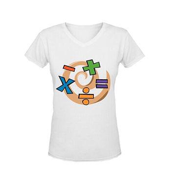 Math Symbol Clip Art Womens V Neck Custom T Shirts Global Sources
