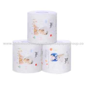 China Customized Personalized Printed Ultra Soft Core Toilet Paper ...
