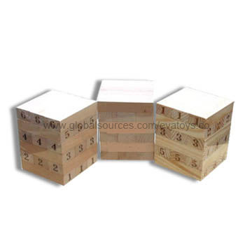China Children's Game Bricks, Made of Solid Wood, Designed in