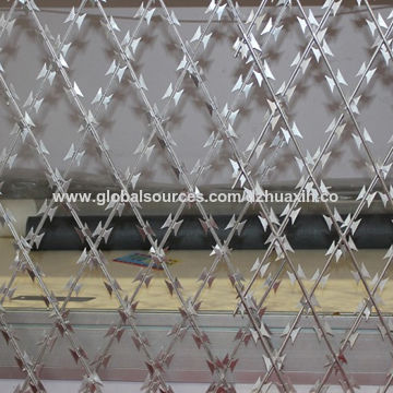 China Razor Barbed Wire from Dingzhou Manufacturer: Dingzhou Huaxin ...