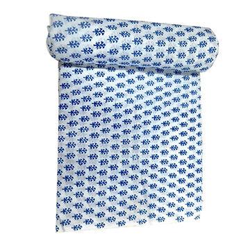 tissu Sanganeri loose Running CRAFT Indian Hand Block imprimé pur coton 3 Yd environ 2.74 m