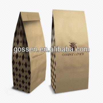 9c8903734 China Fashion Side Gusset Kraft Paper T-shirt Bags for Shopping