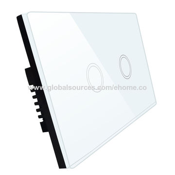 China UK standard LED light smart touch switch with simple and elegant housing design