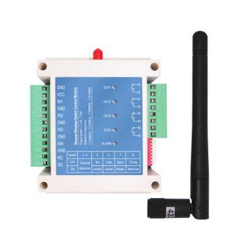 3Km Long Distance Industrial 4 Relays Wireless RF Remote