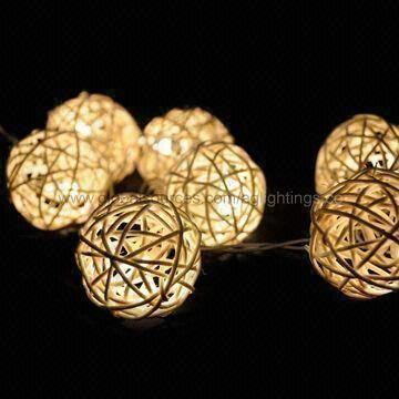 Hong Kong Sar Led Rattan Ball String Light Decorative Lights For Grand Wedding Events