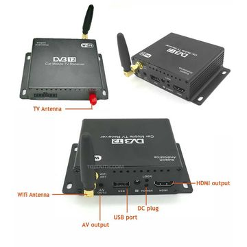 Smart DVB-T2 WiFi TV Receiver for smartphone or Android car DVD
