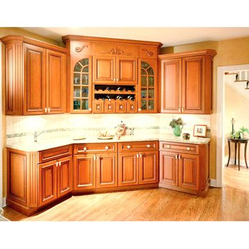 Solid Birch Kitchen Cabinet Plywood And Uv Painting Finish Global
