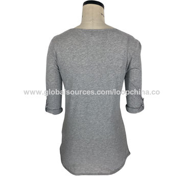China Women's placement printed T-shirts