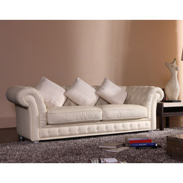 2015 modern tufted leather chesterfield sofa HD 220 with buttons in ...