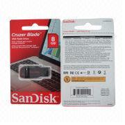 Taiwan Sandisk USB2.0 USB Flash Drive, 4 to 64GB Capacity