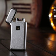 China Luxury Metal Electric Arc Pulse USB Rechargeable Cigarette Lighter Flameless Windproof
