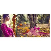 India Submissive Magenta Bhagalpuri Silk Lehenga Choli