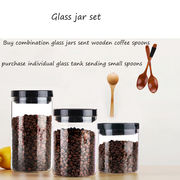 China Insulated watertight Pyrex glass food jars with capacities of 500, 750, 1000 and 1250mL