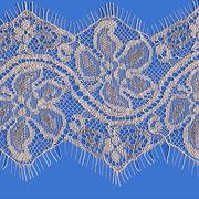 China Eyelash lace,100% nylon jacquard knitting eyelash lace trim