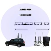 China Integrated Broad Band Jamming System with 900W High Power Vehicle 12 Channel Bomb Jammer up 500m