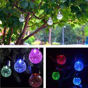 ... China Solar Powered Crack Ball Hanging Garden Lights Ball Chandelier ...