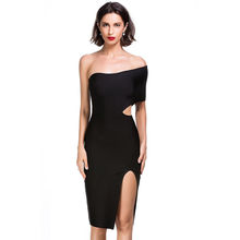 59249f83207 ... China Rayon off shoulder cut out slit party sexy white bandage dress ...