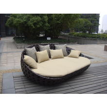 China Outdoor Patio Sofa Wicker Furniture Sunbed Rattan Lounge For Garden
