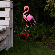 China Flamingo Smart Solar Light Metal Outdoor Garden Silhouette Ornament Animal Waterproof Home Decor