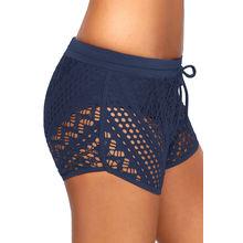 d03782042a ... China Women's Bikini Bottom, Women Hollow Out Lace Overlay Swim Short  Bottom