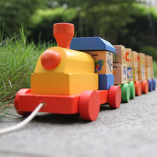 China Best Selling Wooden ABC Train Toy with Blocks, Unit Meas(CM