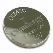 Hong Kong SAR CR245 Lithium/Manganese Dioxide Button Cell w/ 3V Nominal Voltage, 1mA Maximum Continous Current