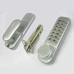 Push Button Code Door Lock with Satin-chrome Finish from Kin Kei Hardware Industries  Ltd