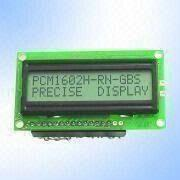 PCM1602H STN Gray 16 x 2 Character LCD Module from China (mainland)