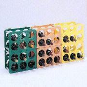 Colorful Plastic Wine Rack Measures 357 x 257 x 2 from Taiwan