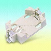 White Lithium Battery Holder Fits One CR2032 Coin from Taiwan