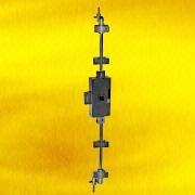 Hong Kong SAR Nickel Plated Rotating Bar Lock with Square Pin