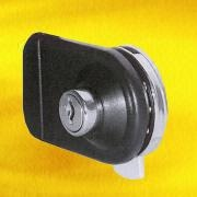 Black Nickel-plated Double Glass Door Lock from Hong Kong SAR