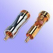 Heavyduty PBT Screw Type Gold-Plated RCA A/V Connectors from Taiwan
